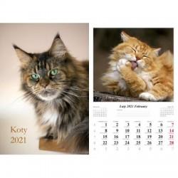 Kalendarz 2021 Koty 7 planszowy