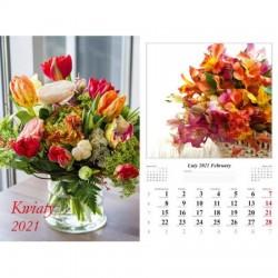 Kalendarz 2021 Kwiaty 7 planszowy
