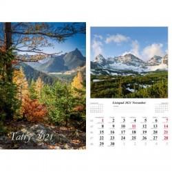 Kalendarz 2021 Tatry 7 planszowy