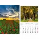 Kalendarz 2021 Pejzaże 7 planszowy