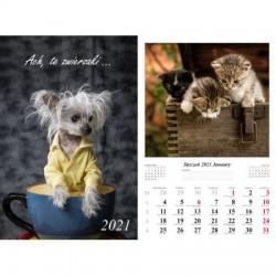 Kalendarz 2021 Ach, te zwierzaki 13 planszowy
