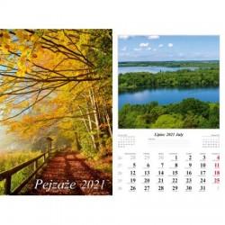 Kalendarz 2021 Pejzaże 13 planszowy