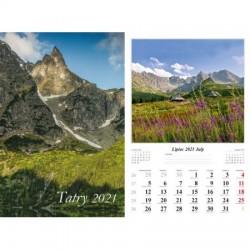 Kalendarz 2021 Tatry  13 planszowy