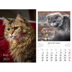 Kalendarz 2021 Koty 13 planszowy