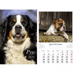 Kalendarz 2021 Psy 13 planszowy
