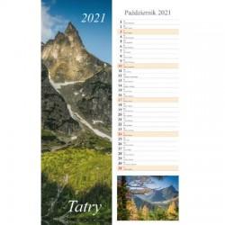 Kalendarz 2021 Tatry pasek 13 planszowy