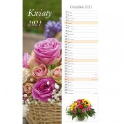 Kalendarz 2021 Kwiaty pasek 13 planszowy