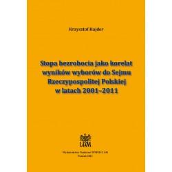 Stopa bezrobocia jako korelat wyników wyborów do Sejmu Rzeczypospolitej Polskiej w latach 2001–2011