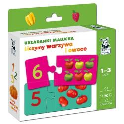 Układanki malucha Liczymy warzywa i owoce