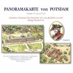 Potsdam. Panorama. Mapa pamiątkowa