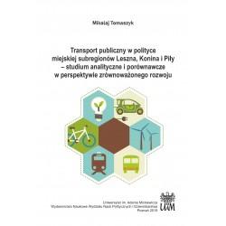 Transport publiczny w polityce miejskiej subregionów Leszna, Konina i Piły