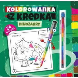 Kolorowanka z kredką Dinozaury