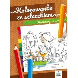 Kolorowanka ze szlaczkiem Dinozaury