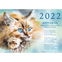 2022 Kalendarz Koty łączą Najpiękniejsze wiersze o kotach
