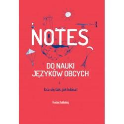 Notes do nauki języków obcych Okładka Czerwona