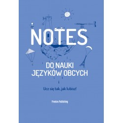 Notes do nauki języków obcych Okładka Niebieska