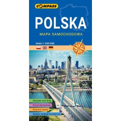 Polska mapa samochodowa 1:650 000