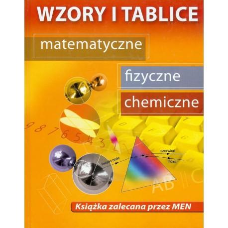 Wzory i tablice matematyczne, fizyczne, chemiczne FIZ CHEM MTM