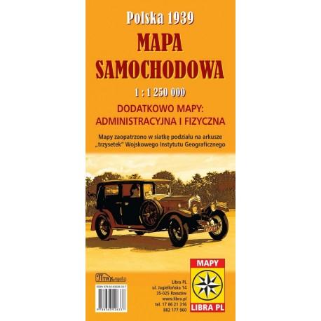 Mapa samochodowa Polska 1939